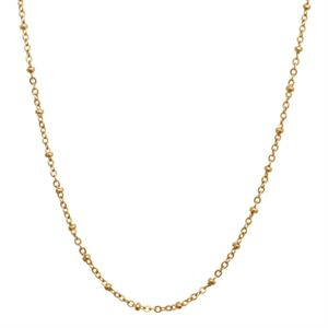 """Picture of Nickel-Free Gold Faceted Bead Chain - 32"""""""